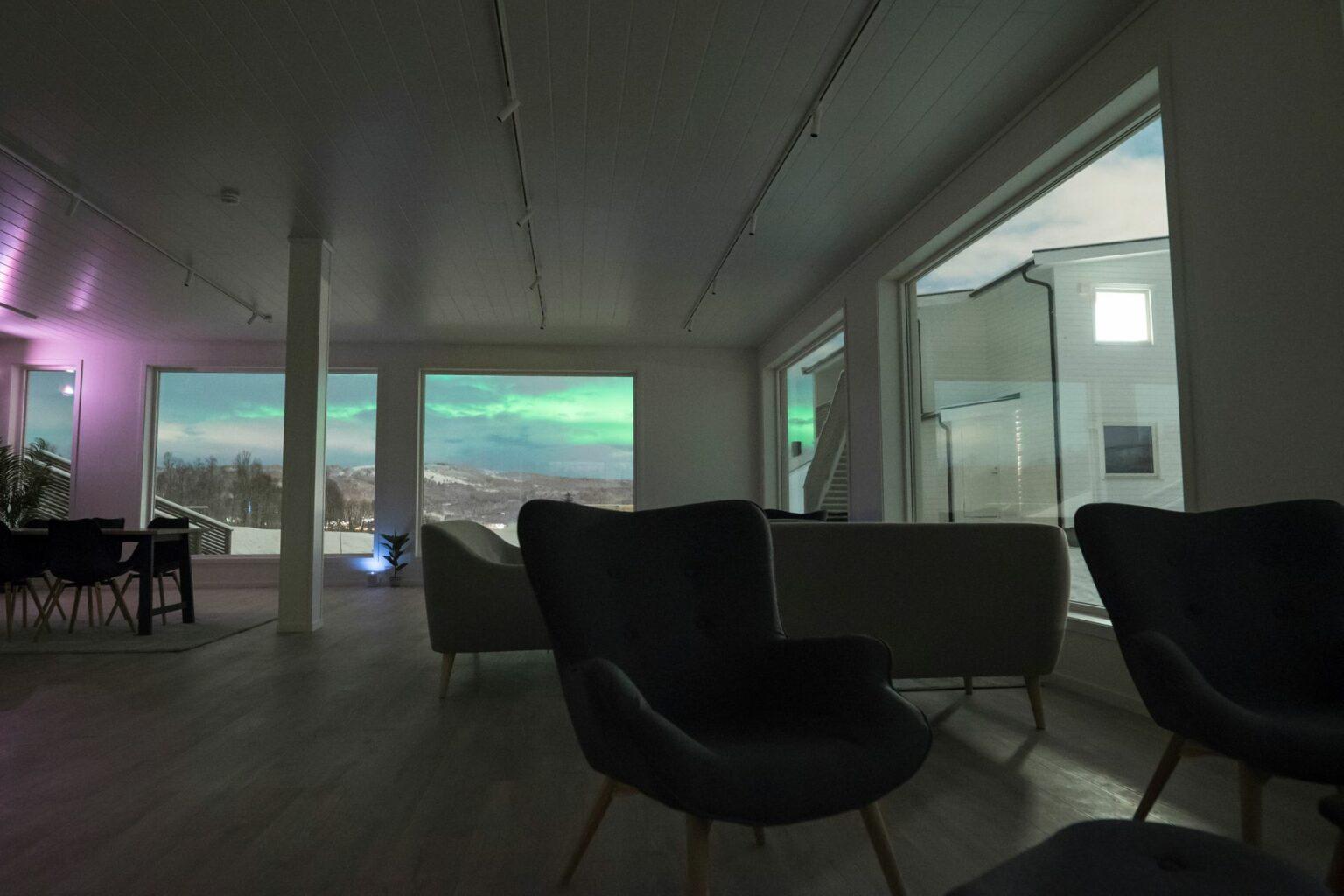 Aurora Borealis seen from aurora lounge