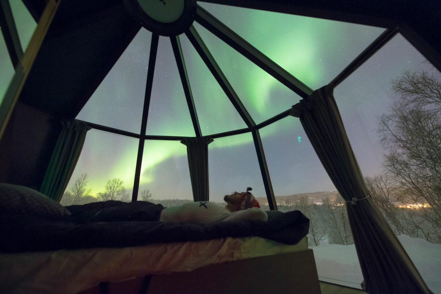 Aurorahut glass roof