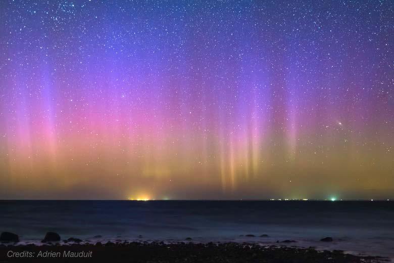 have you ever seen blue Aurora Borealis