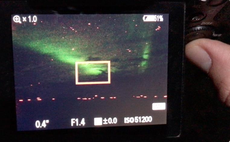 Filming the Aurora Borealis real-time